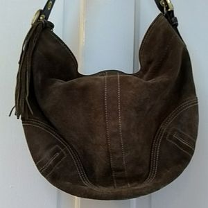 Coach | Brown Leather Suede Hobo purse bag